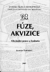 Šantrůček, J.: Fúze, akvizice